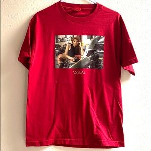 Visual medium red graphic Tshirt